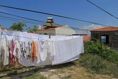 Aegean area - Tenedos island, art, at the shops, houses Royalty Free Stock Images