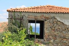 Aegean area - Tenedos island, art, at the shops, houses Royalty Free Stock Photos