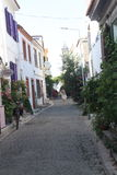 Aegean area - Tenedos island, art, at the shops, houses Stock Photos