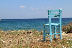 Aegean area - Tenedos island, a chair to peace Royalty Free Stock Image