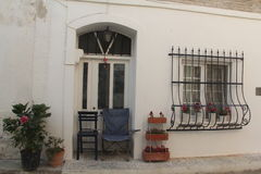 Aegean area - Tenedos island, an old house and door Stock Photography