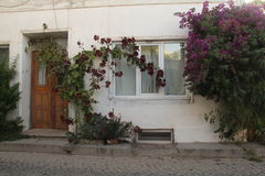 Aegean area - Tenedos island, an old houses and doors Royalty Free Stock Image