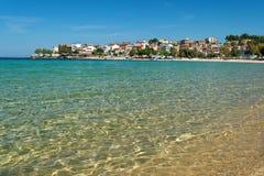 Aegean beach. Aegean Sea at Marmaris, Greece royalty free stock photography