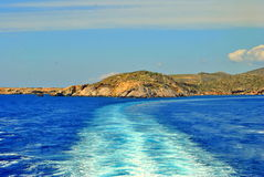 aegean blått hav Arkivfoton