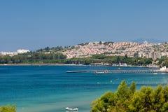 Aegean coast. Recreaiton area and beach royalty free stock images
