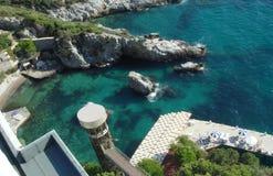 Aegean coast. Kusadasi resort on the Aegean Sea royalty free stock photo