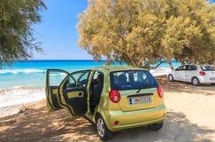 Aegean coast. Rhodes Island. Greece Royalty Free Stock Photo