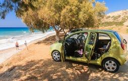 Aegean coast. Rhodes Island. Greece Stock Images