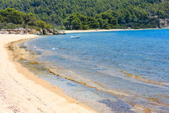 Aegean coast, Sithonia, Greece. Royalty Free Stock Images
