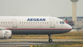 Aegean flygbuss 321 på starten lager videofilmer