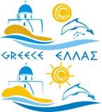 aegean greece hav stock illustrationer