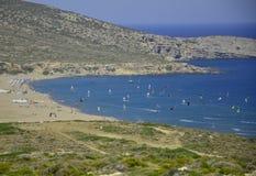 aegean greece hav Royaltyfri Fotografi
