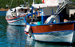 Aegean harbour Stock Photo