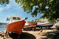 Aegean harbour Stock Photo