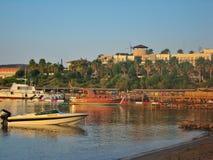 Aegean hav i den Bodrum staden Arkivbild
