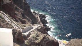 Aegean hav i Santorini lager videofilmer