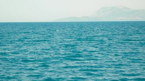 Aegean Islands on a sea walk. Aegean islands against the backdrop of beautiful islands stock footage