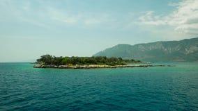 Aegean Islands on a sea walk. Aegean islands against the backdrop of beautiful islands stock footage