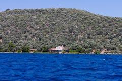 Aegean kust Arkivbilder