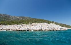 Aegean kust Arkivbild