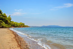 Aegean kust i sommar. Royaltyfri Bild