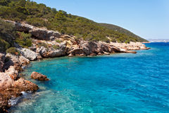 Aegean kust nära Bodrum, Turkiet Royaltyfri Fotografi