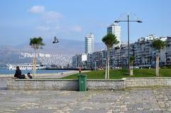 Aegean kust- område i staden av Izmir, Turkiet Arkivbild