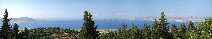 Aegean Panorama View Stock Photo