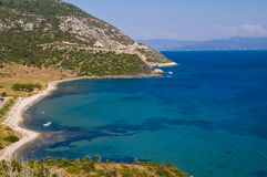 Aegean Sea. View to the Aegean Sea in Turkey royalty free stock photos