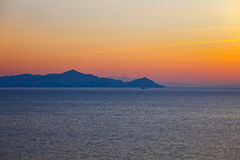 Aegean sea. Islands in Aegean sea, Greece Stock Photography