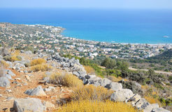 Free Aegean Sea And Hersonissos Town. Royalty Free Stock Image - 67662426