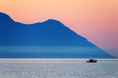 Aegean Sea and Athos Mountain Royalty Free Stock Photos