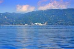 Aegean sea Athos panorama Greece Stock Images