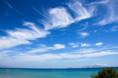Aegean Sea. Beautiful seaside and sea view on Aegean Sea stock image