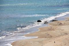 Aegean Sea. Beautiful seaside and sea view on Aegean Sea Stock Images