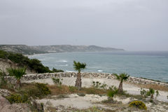 Aegean Sea. Beautiful seaside and sea view on Aegean Sea Royalty Free Stock Images