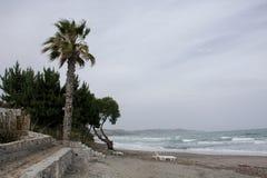 Aegean Sea. Beautiful seaside and sea view on Aegean Sea Stock Photo