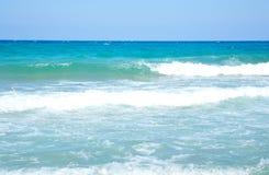 Aegean Sea and blue sky. Stock Photo