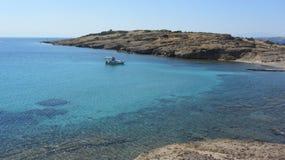 Aegean Sea. A boat in the Aegean Sea. Aegean coast near Bodrum, Turkey royalty free stock image