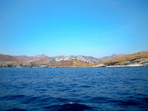 Aegean Sea by boat. Somewhere between Turkey and Greece Royalty Free Stock Photography