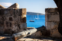 Aegean Sea from the Bodrum Castle Royalty Free Stock Photos