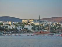 Aegean Sea in Bodrum city Royalty Free Stock Photo