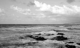 Aegean Sea at cloud day. Stock Photos