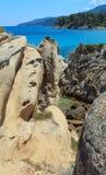 Aegean sea coast Chalkidiki, Greece. Stock Images