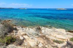 Aegean sea coast Chalkidiki, Greece. Royalty Free Stock Photos