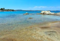 Aegean sea coast Chalkidiki, Greece. Aegean sea coast landscape, view from Karidi beach Chalkidiki, Greece Stock Image