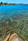 Aegean sea coast Chalkidiki, Greece. Stock Image