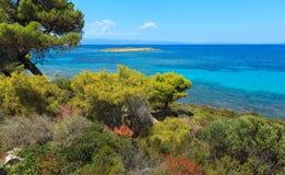 Aegean sea coast Chalkidiki, Greece. Stock Photo