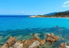 Aegean sea coast Chalkidiki, Greece. Stock Photography