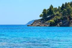 Aegean sea coast Chalkidiki, Greece. Royalty Free Stock Photography